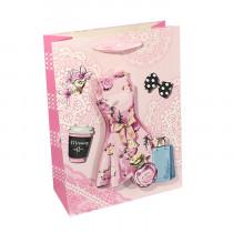 Подарочный пакет вертикальный 3D «Женский»