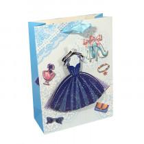 Подарочный пакет вертикальный 3D «Женский» №2