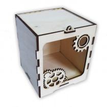 Подарочная коробка из фанеры «Шестеренки»