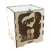 Коробка подарочная из фанеры love is
