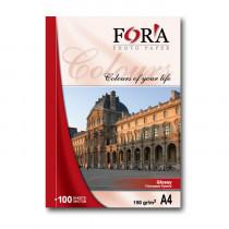 Фотобумага глянцевая двухсторонняя «Fora», А4/180 гр/50 листов