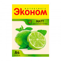 Фотобумага матовая «Эконом», А4/180 гр/100 листов